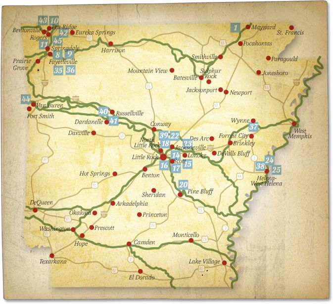 Trail of Tears places map.  pictures of arkansas - Bing Images