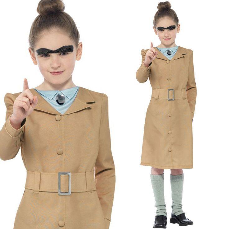 Miss Trunchbull Costume – Kids Roald Dahl Fancy Dress Book Matilda Trunchbull | eBay