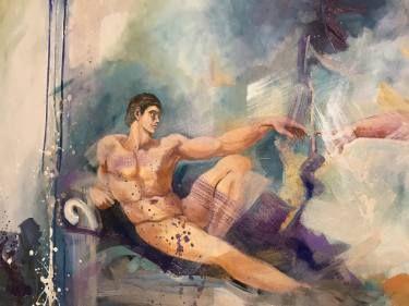 "Saatchi Art Artist Aria Dellcorta; Painting, ""A Priori"" #art #abstract #saatchiart #new #soul #fineart #painting #artforsale #academicart #originalart @ariadellcorta"