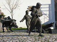 "Şerife Bacı (literally: Sister Şerife), aka Şerife Kadın for ""Mrs. Şerife"", (died December 1921) was a Turkish folk heroine, who took part in the Turkish War of Independence, and was declared a martyr due to her death during the war"