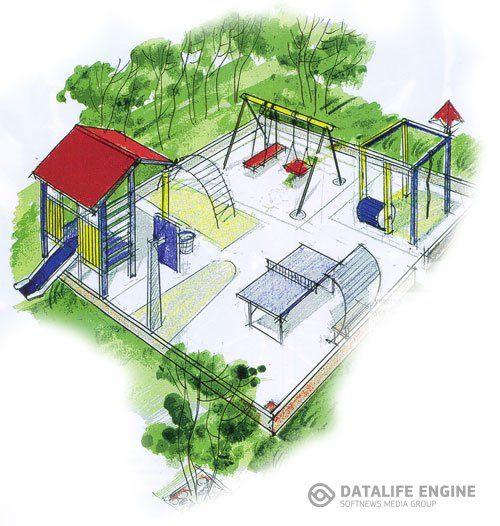 Дизайн детской игровой площадки