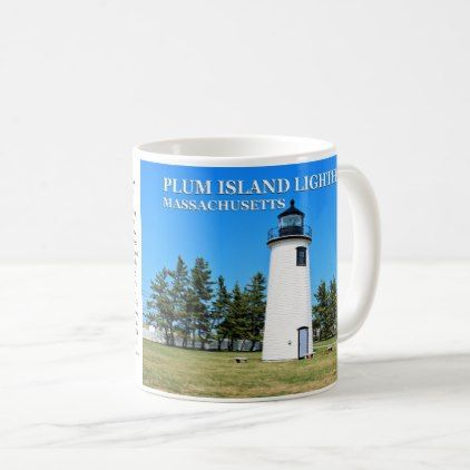 Plum Island Lighthouse Massachusetts Mug - decor gifts diy home & living cyo giftidea