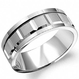 Crown Ring - Collections Wedding Bands Carved Wb 8203 M10