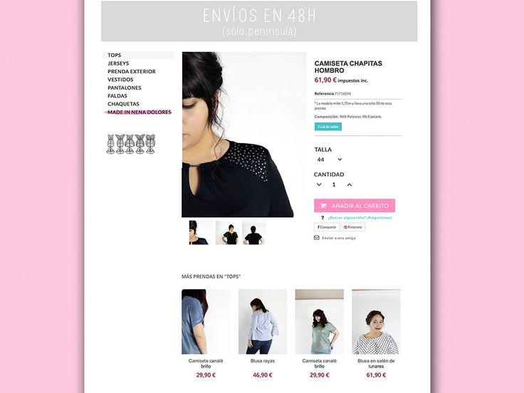 Nena Dolores · Diseño de tienda online para moda en tallas grandes