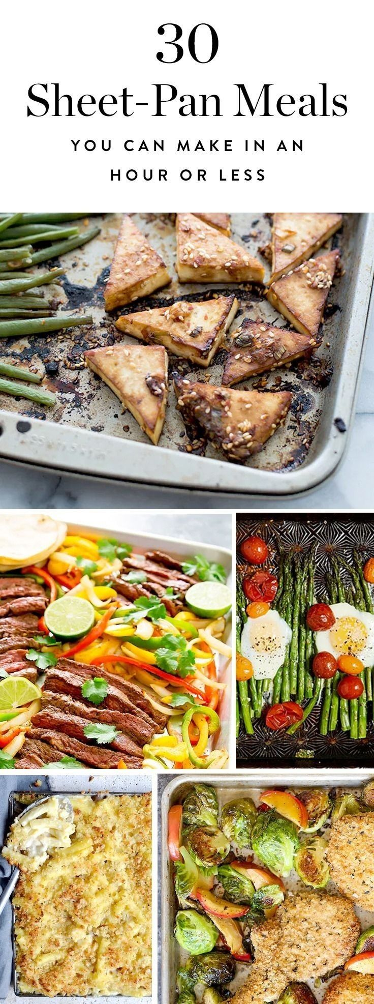 Here are 30 delicious sheet-pan meals you can make in under an hour. (Best of all, there's only one dish to wash.)