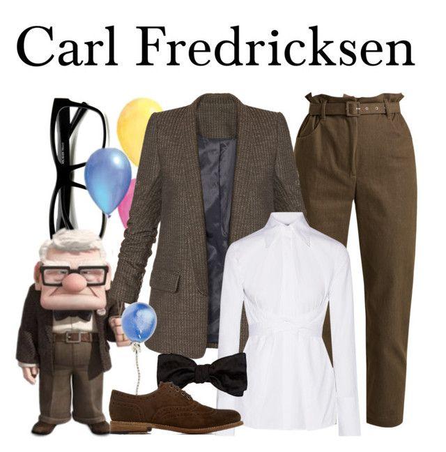 """Carl Fredricksen"" by megan-vanwinkle ❤ liked on Polyvore featuring ZeroUV, Isa Arfen, Helmut Lang, Alexander McQueen, Vhernier, Grenson, disney, polyvoreeditorial and fall2017"