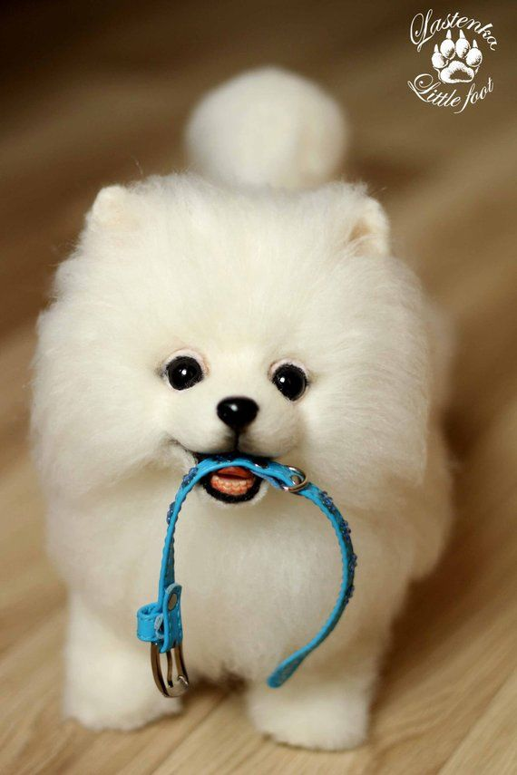 6232542ddb94 Puppy pomeranian Zephyr handmade Stuffed dog collectible Artist toy OOAK  teddy dog Portrait pet spit