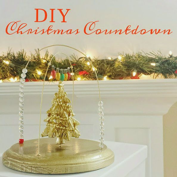 how to make a bead christmas countdown craft, christmas decorations, crafts, seasonal holiday decor