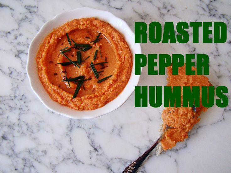 Roasted Pepper Hummus | booksandlavender.com
