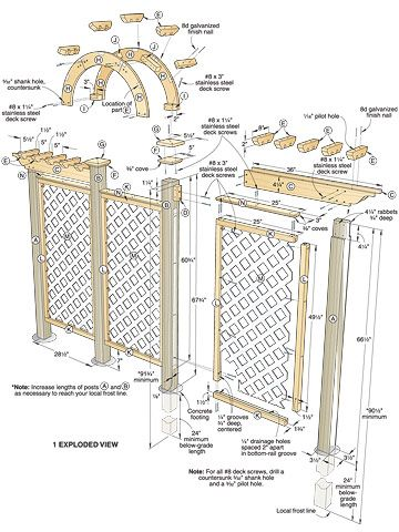 Arched Trellis Woodworking Plan Wood Working Pinterest