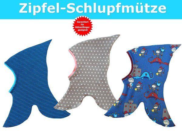 Zipfelschlupfmütze für Babys & Kinder- Schnittmuster & Nähanleitung