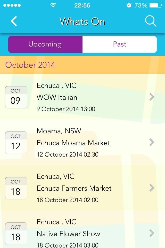 Appy Town app snapshot: What's On in Echuca - Moama