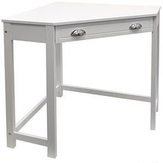 Tesco direct: Haven - Compact Wooden Corner Computer Desk / Dressing Table / Craft Workstation - White