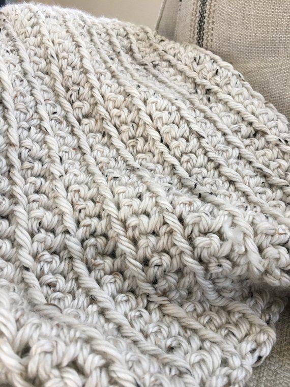 Wool blend Afghan