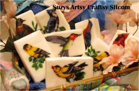You can make these decorative soaps. Learn how from Suzy's Artsy Craftsy Sitcom.