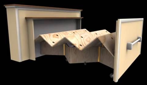 Here are plans for an unusual bed design, courtesy of the Tiny r(E)volution blog.