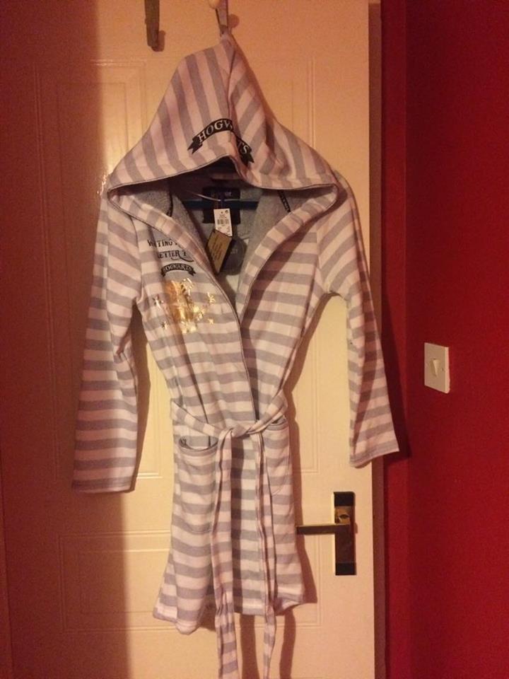 Details About Primark Harry Potter Hogwarts Hooded Ladies Dressing