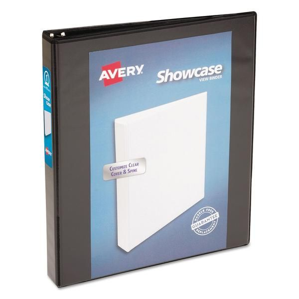 Showcase Economy View Binder W Round Rings 11 X 8 1 2 1 Cap Black Binder Binder Sizes Vinyl Paper