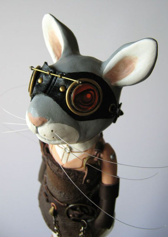 Gears and gadgets - steampunk rabbit