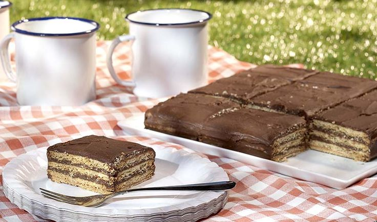 Koffiekoekjestaart met chocolade