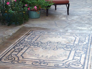 Captivating Concrete Patio Design Options And Function Stamped Concrete U2013 Exposed  Aggregate Finish U2013 Chemical Acid Stain Concrete U2013 Engraved Concrete U2013  Painted Or ...