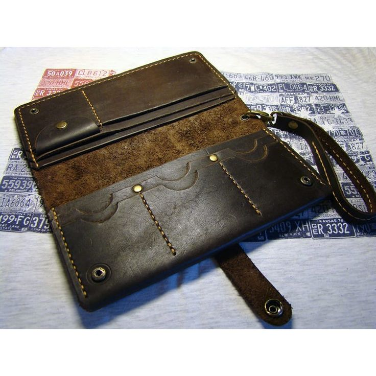Брендовый клатч Travel brown leather