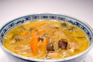 Pak choi leves kókusztejjel http://www.receptmuves.hu/2012/11/pak-choi-leves-kokusztejjel.html #pakchoi #leves #soup #kokusztej #coconutmilk #vegan