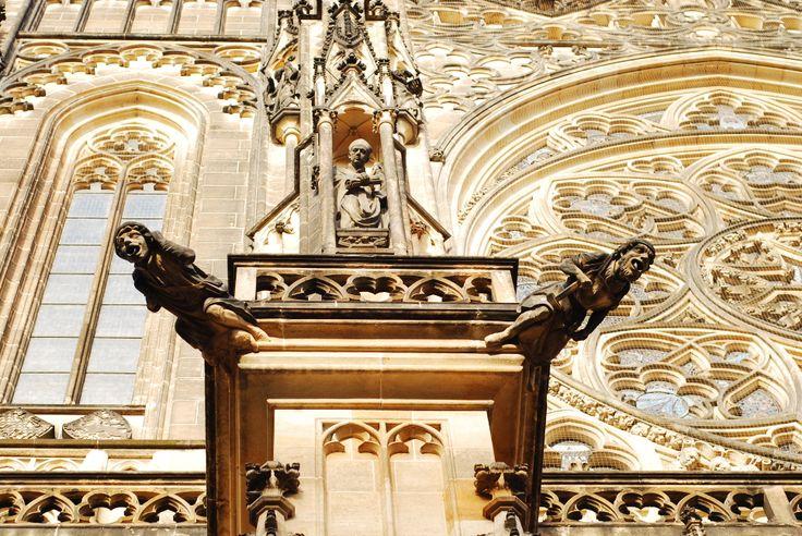 A gothic detail, Prague   by Deniz Yetimoğlu