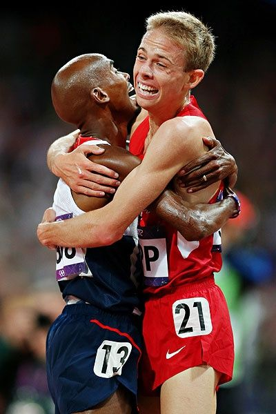 Mo Farah, left, and Galen Rupp train together in Oregon.
