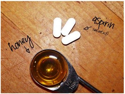 aspirin honey mask perfect for those under the skin pimples.