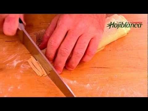 Como hacer pasta fresca casera - Recetas de cocina - YouTube