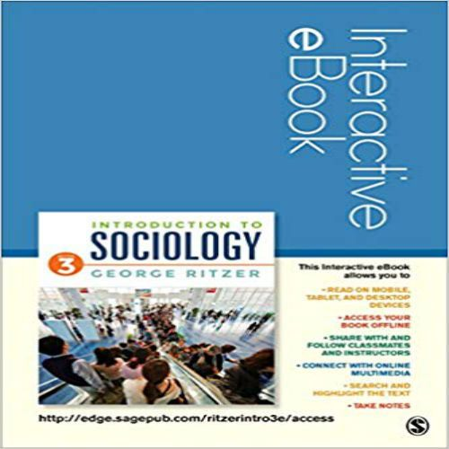 Introduction to Sociology Interactive eBook 3rd Edition by