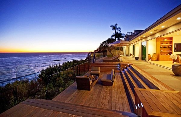 tropical resort style home patio deck