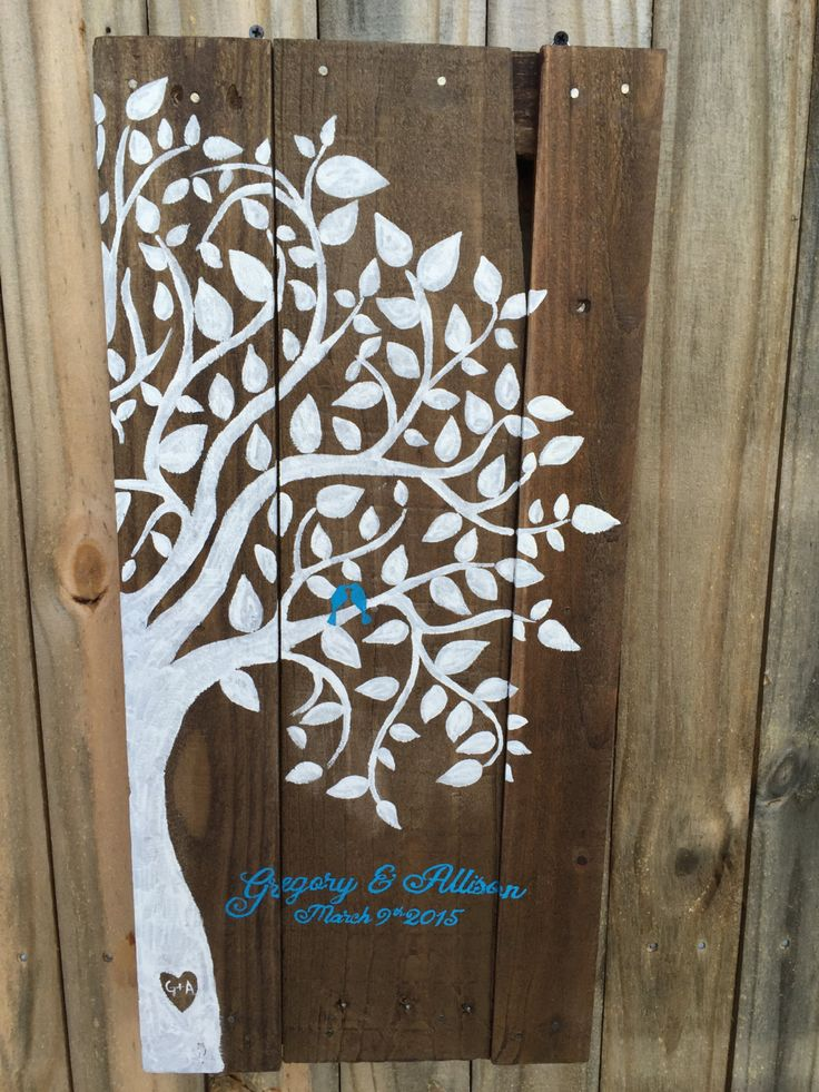 Wooden Recycled pallet Family tree sign- wedding/ anniversary gift- anniversary gift- wedding pallet sign- reclaimed wood sign- pallet sign