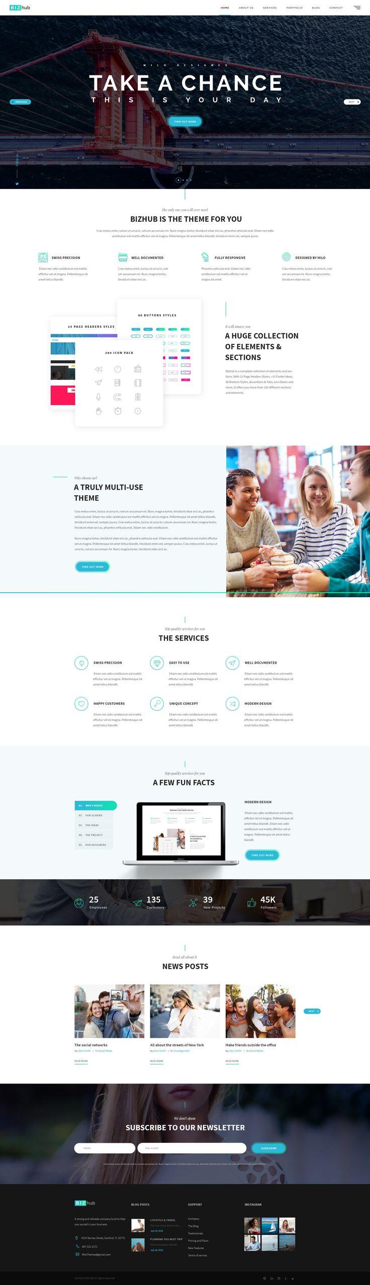 BIZhub - Mega PSD Pack #web design #business website #website • Download ➝ https://themeforest.net/item/bizhub-mega-psd-pack/17768037?ref=pxcr