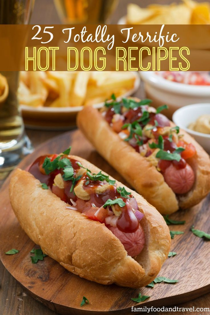 Hot Dog Recipes - the perfect collection of hot dog recipes unique and traditional your family will love these.