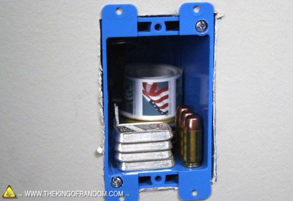 How To Make A Super Secret Wall Outlet Safe by The King of Random — via Instructables