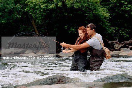 Couple Fishing Ontario, Canada Stock Photo - Rights-Managed, Image code: 700-00037221