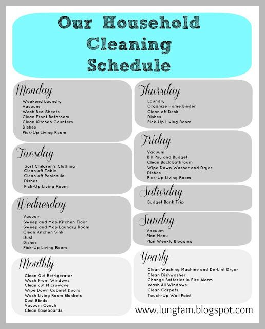 22 best Nanny images on Pinterest | Cleaning tips, Weekly house ...
