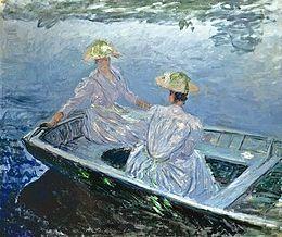 Monet, la barca blu, 1887, olio su tela, Museo Thyssen-Bornemisza, Madrid