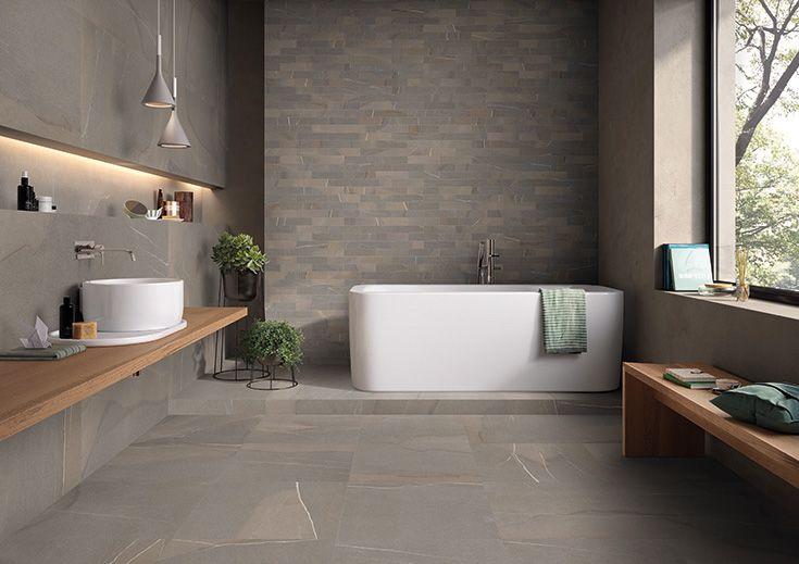 Piase by Emilceramica  #emilgroup #emilceramica #tiles #ceramics #floortiles #interiordesign #madeinitaly #architecture #style #stoneeffect #bathroom
