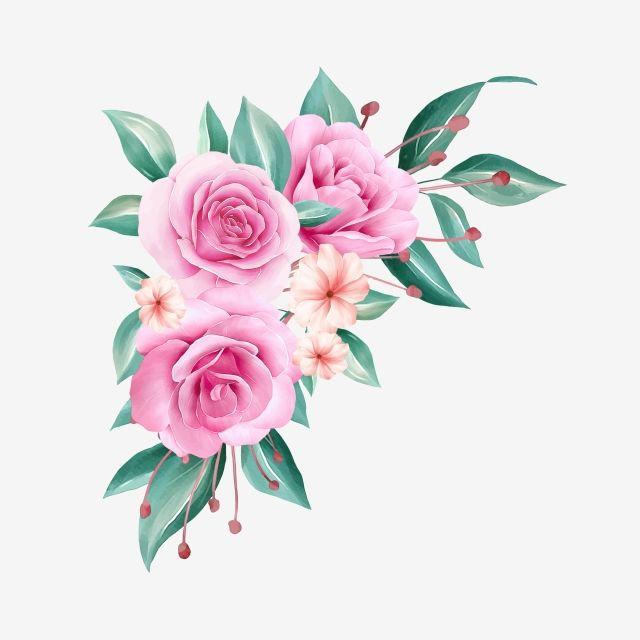 ترتيب الزهور المائية التوضيح من الورود والخوخ والأوراق للحدود التصميم الورد المرسومة حفل زواج رسالة دعوة Png وملف Psd للتحميل مجانا Flower Drawing Floral Border Design Watercolor Flowers