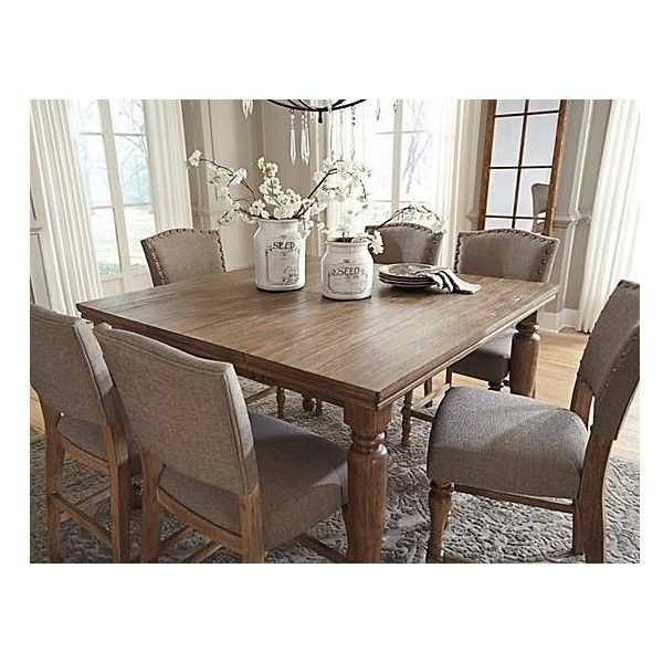 Tanshire Counter Height Dining Room Table ($262) ❤ Liked On Polyvore  Featuring Home,