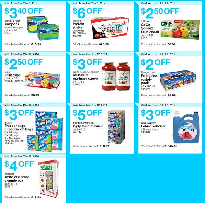 Costco Canada in-store Coupons