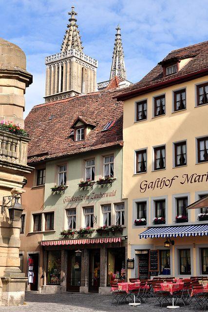 Marktplatz Rothenburg   Germany- LOVED this town- so fairytale like