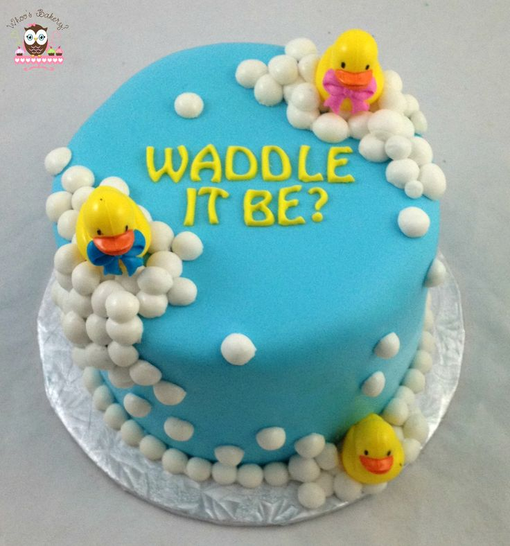 what the duck is it? gender reveal cake  my cakes, Baby shower invitation
