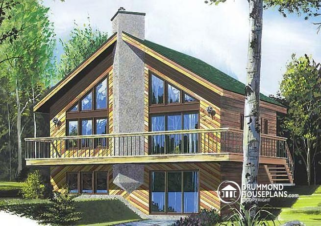 217 best lakefront cottage home plans country cottage for Ski house plans