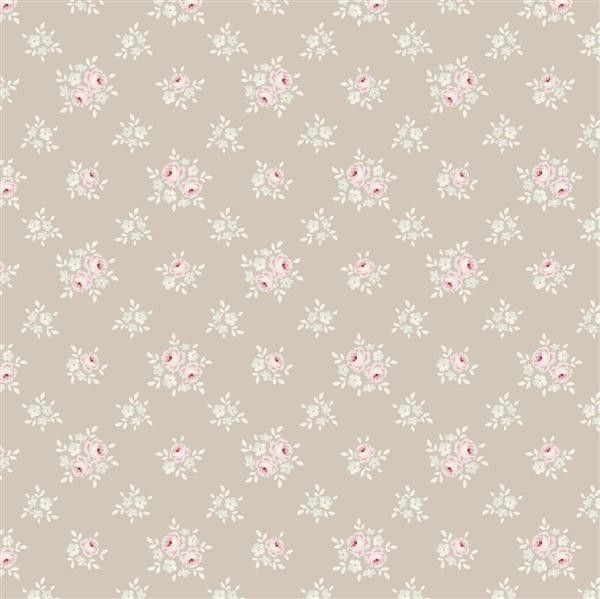 Tilda Sweet Christmas Fabric - Jane Warm Grey - Fabric by Designer - Fabric