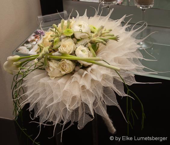 Flower adventure: Liście preparowane w bukiecie