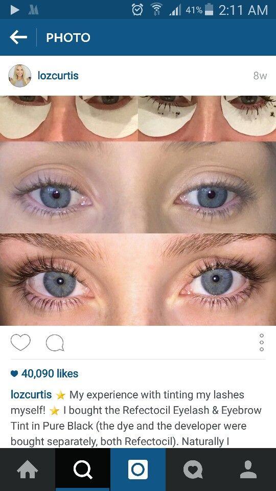 Eyelash tint?